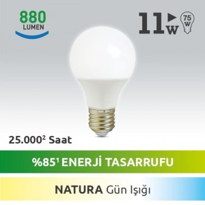E27 LED AMPUL 11W NATURE
