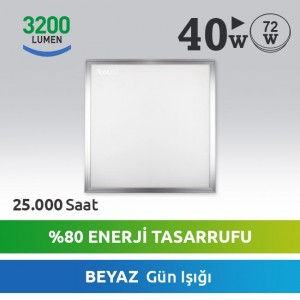 Karo Tavan LED Panel 40W Beyaz